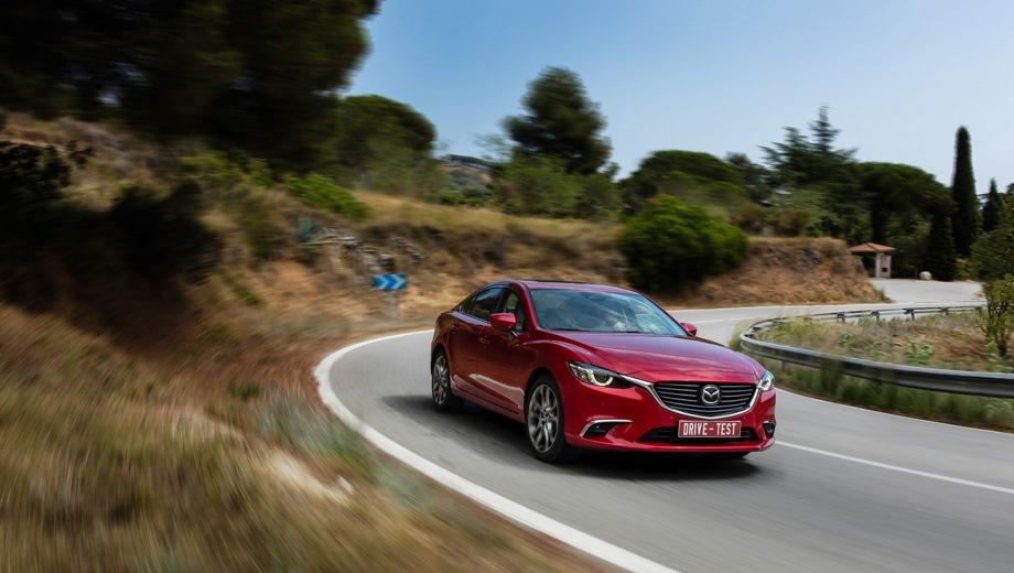 Mazda 6 (2012). Выпускается с 2012 года. Восемь базовых комплектаций. Цены от 1 377 000 до 1 942 000 руб.Двигатель от 2.0 до 2.5, бензиновый. Привод передний. КПП: автоматическая.