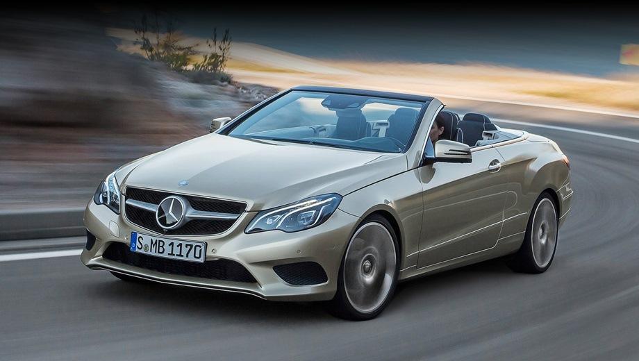 Mercedes-Benz E Cabriolet. Выпускается с 2010 года. Две базовые комплектации. Цены от 3 840 000 до 4 060 000 руб.Двигатель от 1.8 до 3.5, бензиновый. Привод задний. КПП: автоматическая.