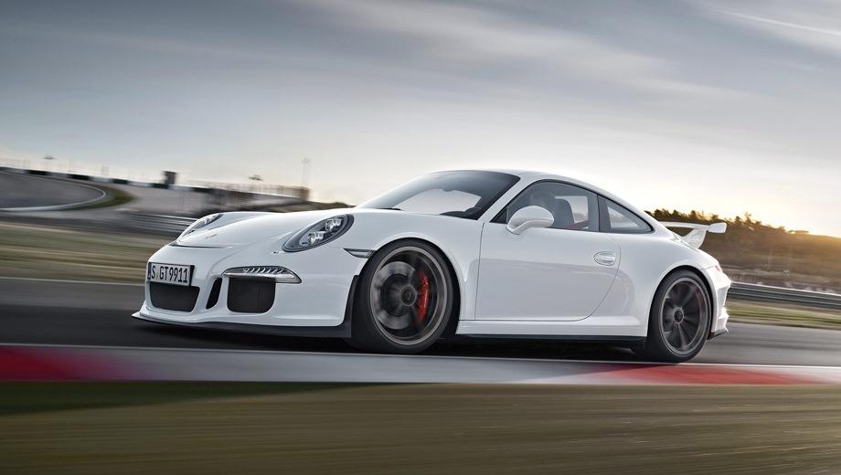 Porsche 911 GT3 (2013). Выпускается с 2013 года. Две базовые комплектации. Цены от 8 037 000 до 10 551 000 руб.Двигатель от 3.8 до 4.0, бензиновый. Привод задний. КПП: роботизированная.