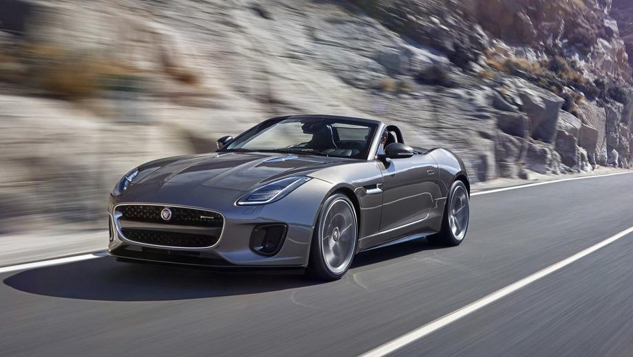 Jaguar F-Type (2013). Выпускается с 2013 года. Двенадцать базовых комплектаций. Цены от 5 499 000 до 11 348 000 руб.Двигатель от 2.0 до 5.0, бензиновый. Привод задний и полный. КПП: автоматическая.
