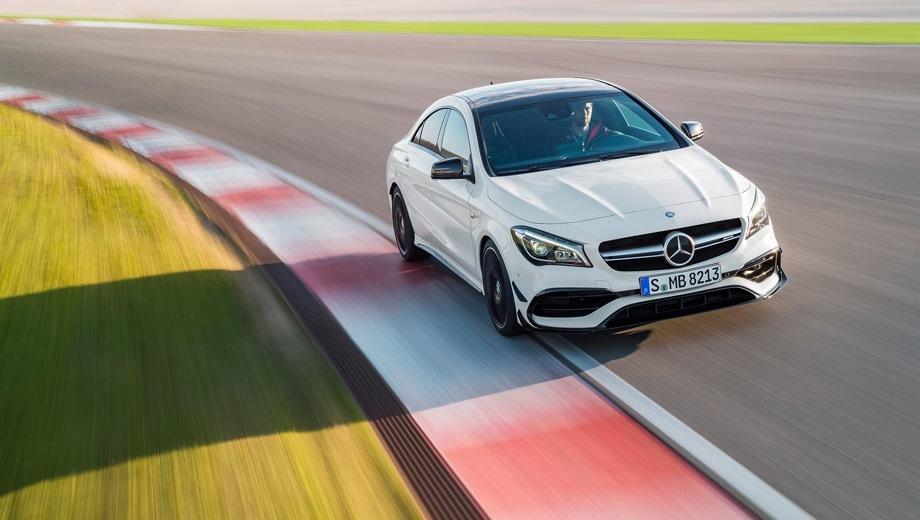 Mercedes-Benz CLA 45 AMG. Выпускается с 2013 года. Одна базовая комплектация. Цена 3 620 000 руб.Двигатель 2.0, бензиновый. Привод полный. КПП: роботизированная.