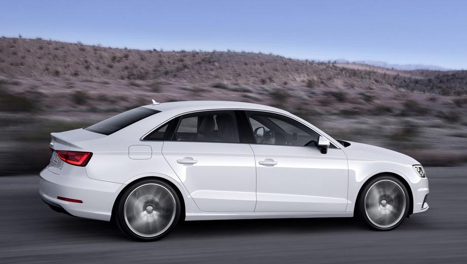 Audi A3 Sedan. Выпускается с 2013 года. Шесть базовых комплектаций. Цены от 1 870 000 до 2 152 000 руб.Двигатель от 1.4 до 2.0, бензиновый. Привод передний и полный. КПП: роботизированная.