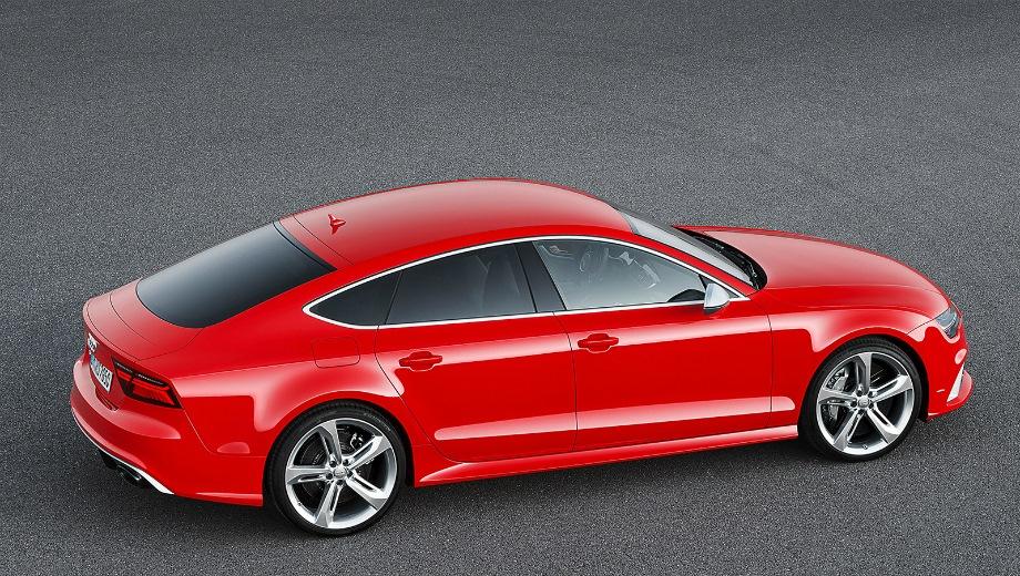 Audi RS7. Выпускается с 2013 года. Одна базовая комплектация. Цена 8 500 000 руб.Двигатель 4.0, бензиновый. Привод полный. КПП: автоматическая.