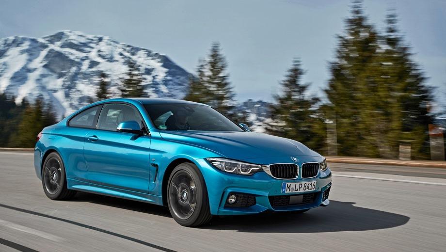 BMW 4 Series. Выпускается с 2013 года. Семь базовых комплектаций. Цены от 2 780 000 до 3 700 000 руб.Двигатель от 2.0 до 3.0, бензиновый и дизельный. Привод задний и полный. КПП: автоматическая.