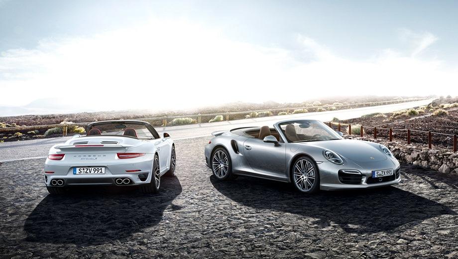 Porsche 911 Turbo Cabriolet. Выпускается с 2013 года. Две базовые комплектации. Цены от 12 629 000 до 14 263 000 руб.Двигатель 3.8, бензиновый. Привод полный. КПП: роботизированная.