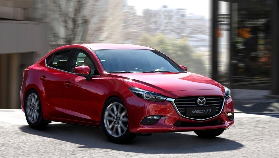 Mazda 3 Sedan. Выпускается с 2013 года. Три базовые комплектации. Цены от 1 243 000 до 1 421 300 руб.Двигатель от 1.5 до 1.6, бензиновый. Привод передний. КПП: автоматическая.
