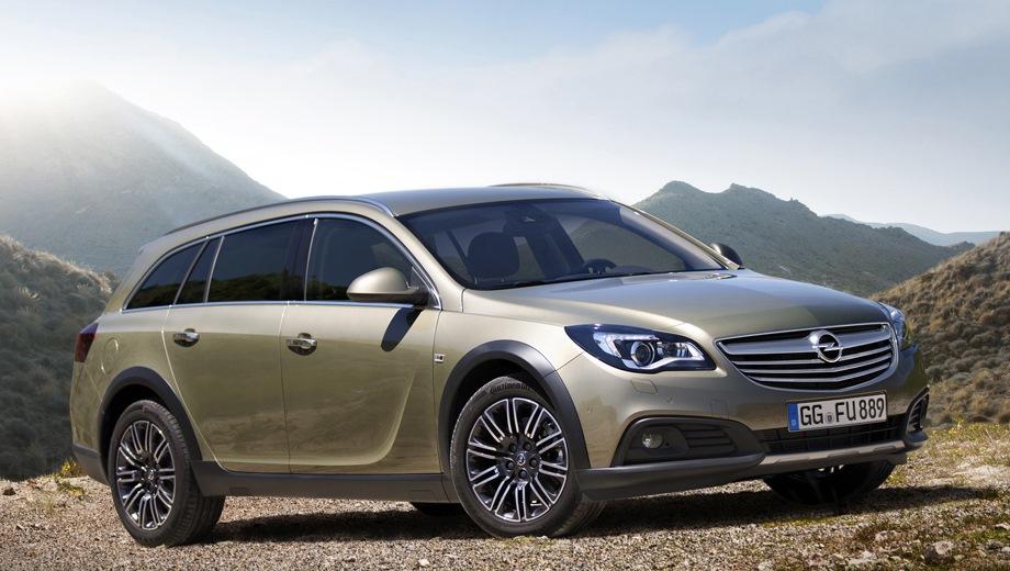 Opel Insignia Country Tourer. Выпускается с 2013 года. Пять базовых комплектаций. Марка официально не представлена на российском рынке.Двигатель от 1.6 до 2.0, дизельный и бензиновый. Привод полный и передний. КПП: автоматическая.