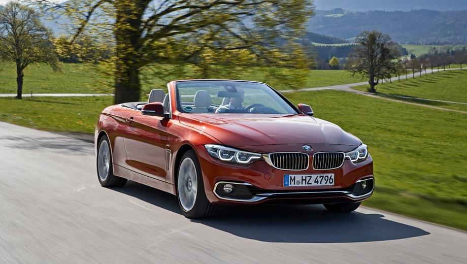 BMW 4 Series Convertible. Выпускается с 2013 года. Четыре базовые комплектации. Цены от 2 930 000 до 3 680 000 руб.Двигатель от 2.0 до 3.0, дизельный и бензиновый. Привод задний и полный. КПП: автоматическая.