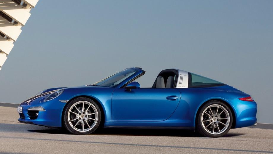 Porsche 911 Carrera Targa. Выпускается с 2014 года. Шесть базовых комплектаций. Цены от 7 407 000 до 9 236 504 руб.Двигатель 3.0, бензиновый. Привод полный. КПП: механическая и роботизированная.