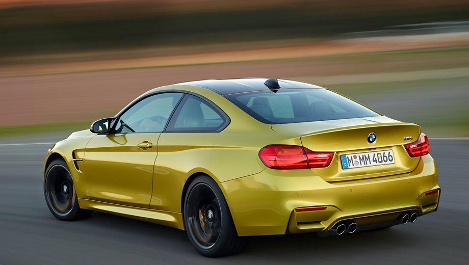 BMW M4 (2014). Выпускается с 2014 года. Две базовые комплектации. Цены от 4 680 000 до 5 012 000 руб.Двигатель 3.0, бензиновый. Привод задний. КПП: механическая и автоматическая.