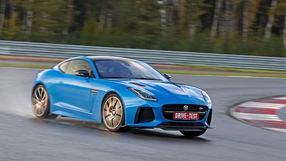 Jaguar F-Type Coupe. Выпускается с 2013 года. Двенадцать базовых комплектаций. Цены от 4 882 000 до 10 434 000 руб.Двигатель от 2.0 до 5.0, бензиновый. Привод задний и полный. КПП: автоматическая.