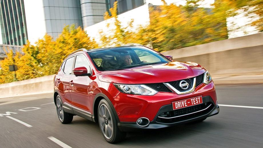 Nissan Qashqai (2013). Выпускается с 2013 года. Двадцать шесть базовых комплектаций. Цены от 1 290 000 до 1 899 000 руб.Двигатель от 1.2 до 2.0, бензиновый и дизельный. Привод передний и полный. КПП: механическая и вариатор.
