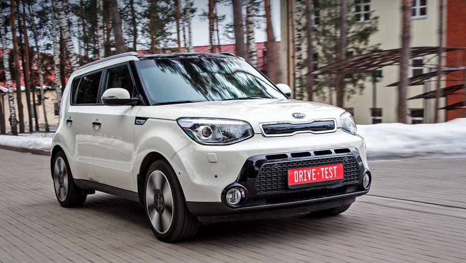 KIA Soul (2013). Выпускается с 2013 года. Девять базовых комплектаций. Цены от 869 900 до 1 209 900 руб.Двигатель 1.6, бензиновый. Привод передний. КПП: механическая и автоматическая.