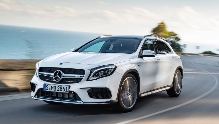 Mercedes-Benz GLA 45 AMG. Выпускается с 2013 года. Одна базовая комплектация. Цена 3 230 000 руб.Двигатель 2.0, бензиновый. Привод полный. КПП: роботизированная.