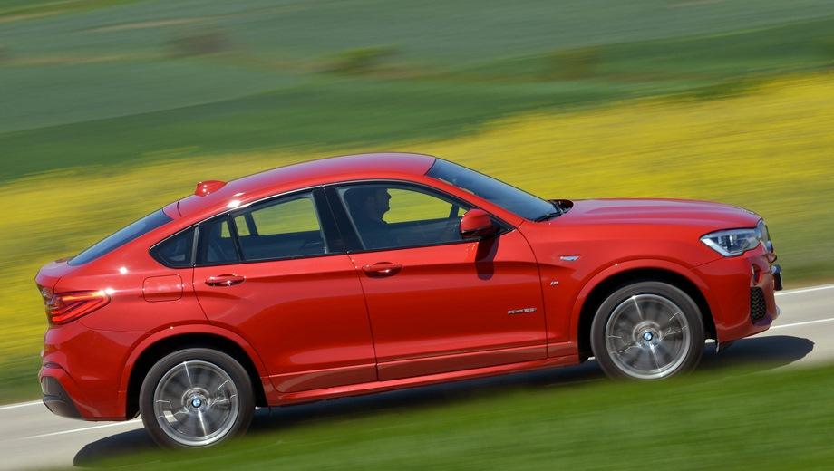 BMW X4 (2014). Выпускается с 2014 года. Восемь базовых комплектаций. Цены от 3 140 000 до 4 320 000 руб.Двигатель от 2.0 до 3.0, дизельный и бензиновый. Привод полный. КПП: механическая и автоматическая.