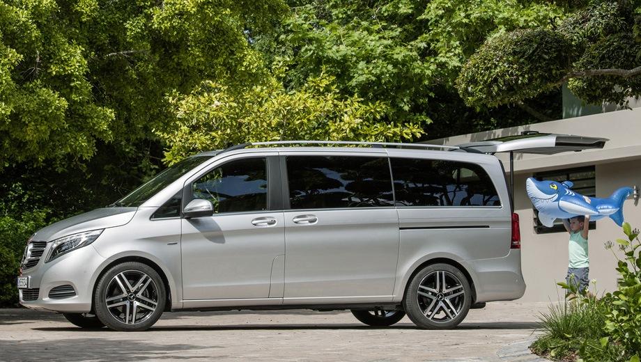 Mercedes-Benz V. Выпускается с 2014 года. Четыре базовые комплектации. Цены от 4 204 000 до 5 483 000 руб.Двигатель 2.1, дизельный. Привод задний. КПП: механическая и автоматическая.