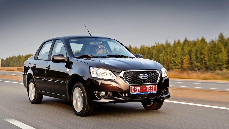 Datsun on-DO. Выпускается с 2014 года. Пятнадцать базовых комплектаций. Цены от 474 000 до 651 000 руб.Двигатель 1.6, бензиновый. Привод передний. КПП: механическая и автоматическая.