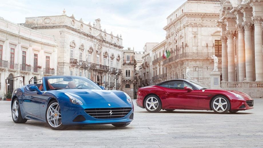 Ferrari California T. Выпускается с 2014 года. Одна базовая комплектация. Цена 11 241 789 руб.Двигатель 3.9, бензиновый. Привод задний. КПП: автоматическая.