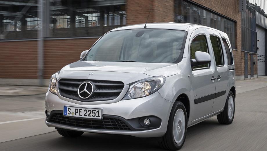 Mercedes-Benz Citan. Выпускается с 2012 года. Четыре базовые комплектации. Цены от 1 422 000 до 1 500 000 руб.Двигатель от 1.2 до 1.5, дизельный и бензиновый. Привод передний. КПП: механическая.