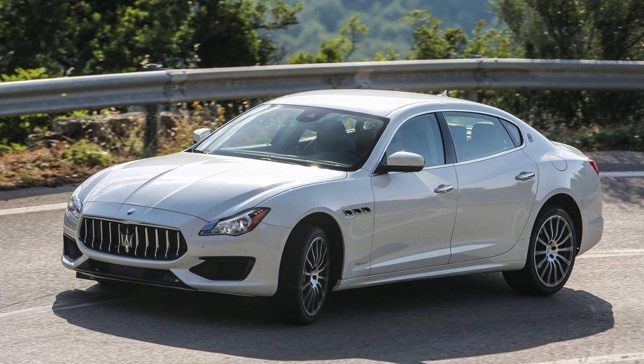 Maserati Quattroporte. Выпускается с 2012 года. Три базовые комплектации. Цены от 6 480 000 до 9 600 000 руб.Двигатель от 3.0 до 3.8, дизельный и бензиновый. Привод задний и полный. КПП: автоматическая.