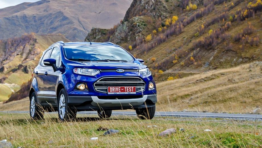 Ford Ecosport (2013). Выпускается с 2013 года. Семь базовых комплектаций. Цены от 972 000 до 1 278 000 руб.Двигатель от 1.6 до 2.0, бензиновый. Привод передний и полный. КПП: механическая и роботизированная.