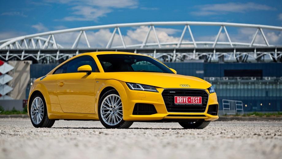 Audi TT. Выпускается с 2014 года. Пятнадцать базовых комплектаций. Цены от 2 240 000 до 2 905 000 руб.Двигатель от 1.8 до 2.0, бензиновый. Привод передний и полный. КПП: механическая и роботизированная.