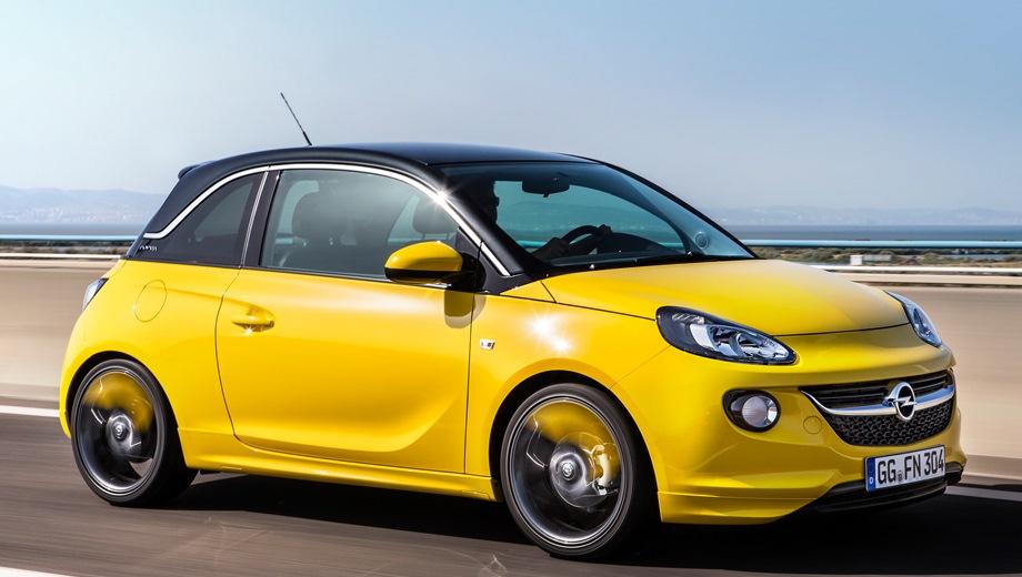Opel Adam. Выпускается с 2012 года. Пять базовых комплектаций. Марка официально не представлена на российском рынке.Двигатель от 1.0 до 1.4, бензиновый. Привод передний. КПП: механическая и роботизированная.