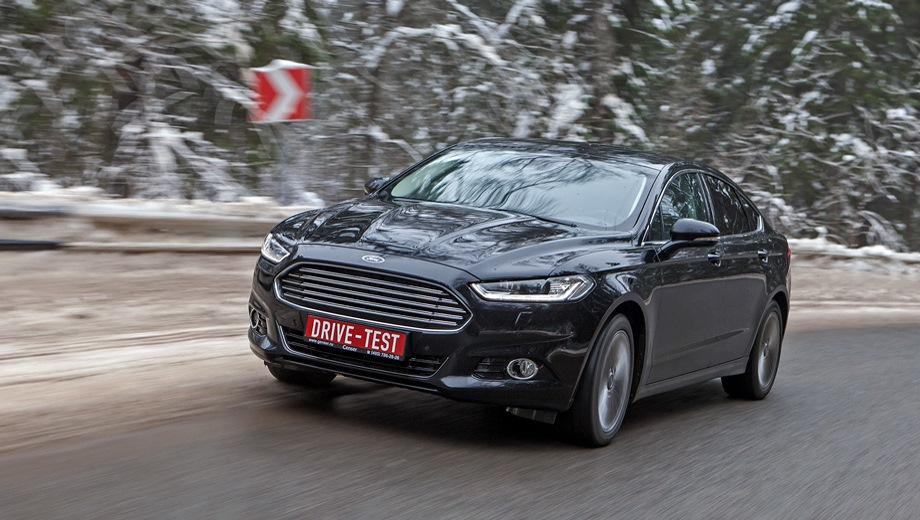 Ford Mondeo. Выпускается с 2015 года. Восемь базовых комплектаций. Цены от 1 547 000 до 2 202 000 руб.Двигатель от 2.0 до 2.5, бензиновый. Привод передний. КПП: автоматическая.