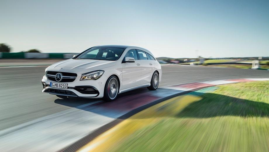 Mercedes-Benz CLA 45 AMG Shooting Brake. Выпускается с 2015 года. Одна базовая комплектация. Цена 3 620 000 руб.Двигатель 2.0, бензиновый. Привод полный. КПП: роботизированная.