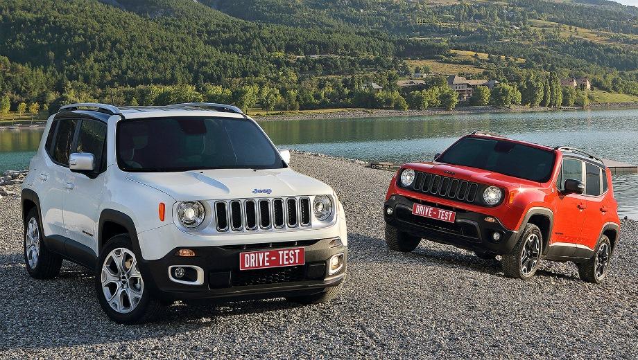 Jeep Renegade. Выпускается с 2015 года. Четыре базовые комплектации. Цены от 1 499 000 до 2 160 000 руб.Двигатель от 1.4 до 2.4, бензиновый. Привод передний и полный. КПП: механическая, роботизированная и автоматическая.