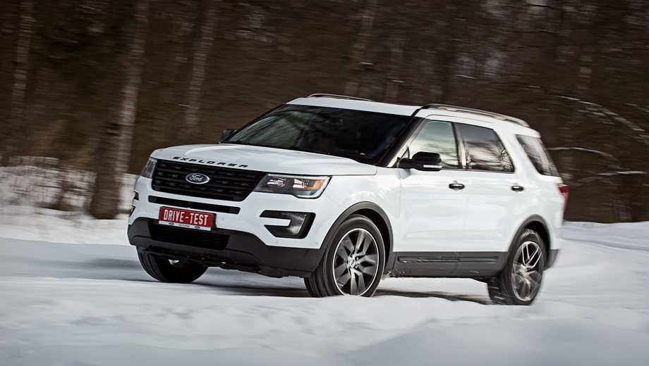 Ford Explorer (2015). Выпускается с 2015 года. Четыре базовые комплектации. Цены от 2 849 000 до 3 519 000 руб.Двигатель 3.5, бензиновый. Привод полный. КПП: автоматическая.