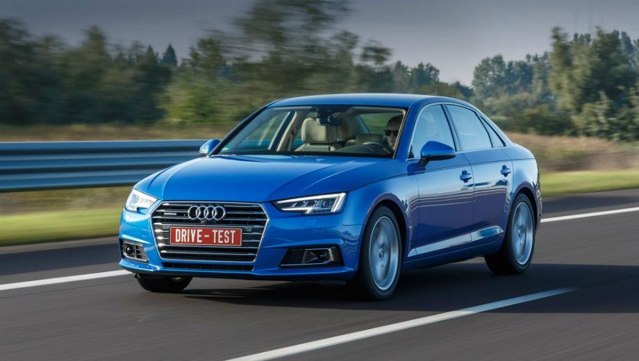 Audi A4. Выпускается с 2015 года. Пятнадцать базовых комплектаций. Цены от 2 125 000 до 2 997 000 руб.Двигатель от 1.4 до 2.0, бензиновый и дизельный. Привод передний и полный. КПП: роботизированная.