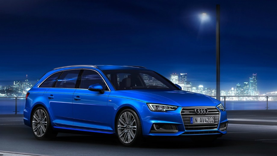 Audi A4 Avant. Выпускается с 2015 года. Пятнадцать базовых комплектаций. Цены от 2 205 000 до 3 082 000 руб.Двигатель от 1.4 до 2.0, бензиновый и дизельный. Привод передний и полный. КПП: роботизированная.