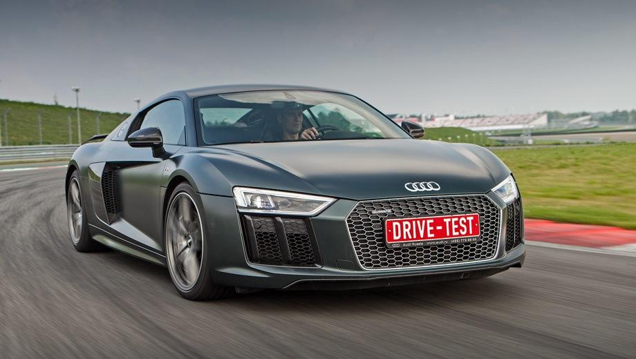 Audi R8. Выпускается с 2015 года. Одна базовая комплектация. Цена 11 200 000 руб.Двигатель 5.2, бензиновый. Привод полный. КПП: роботизированная.