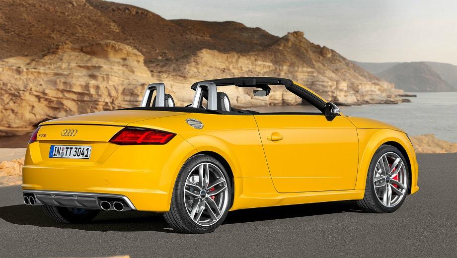 Audi TTS Roadster. Выпускается с 2014 года. Две базовые комплектации. Цены от 3 545 000 до 3 615 000 руб.Двигатель 2.0, бензиновый. Привод полный. КПП: механическая и роботизированная.