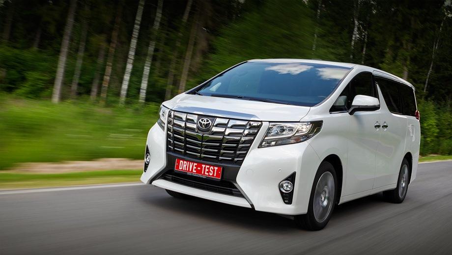 Toyota Alphard (2015). Выпускается с 2015 года. Три базовые комплектации. Цены от 3 578 000 до 4 385 000 руб.Двигатель 3.5, бензиновый. Привод передний. КПП: автоматическая.