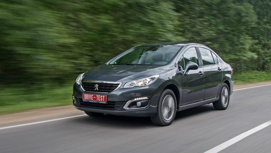 Peugeot 408. Выпускается с 2012 года. Пять базовых комплектаций. Цены от 1 060 000 до 1 245 000 руб.Двигатель 1.6, бензиновый и дизельный. Привод передний. КПП: механическая и автоматическая.