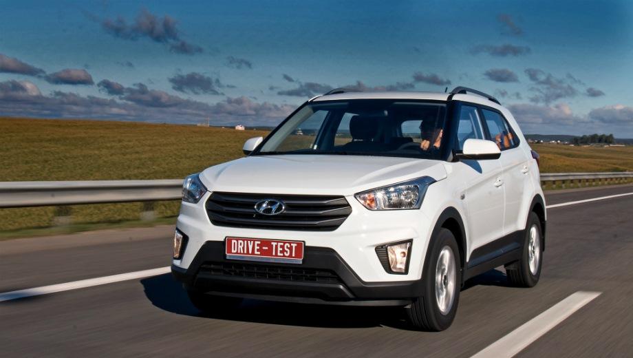 Hyundai Creta. Выпускается с 2016 года. Тринадцать базовых комплектаций. Цены от 879 900 до 1 257 900 руб.Двигатель от 1.6 до 2.0, бензиновый. Привод передний и полный. КПП: механическая и автоматическая.