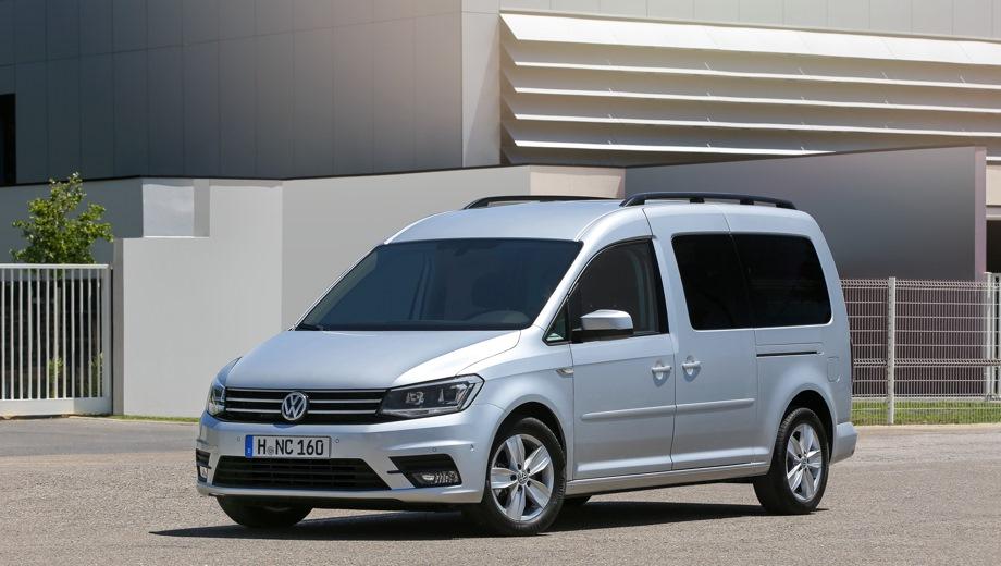 Volkswagen Caddy Maxi. Выпускается с 2016 года. Семнадцать базовых комплектаций. Цены от 1 648 700 до 2 636 600 руб.Двигатель от 1.4 до 2.0, бензиновый и дизельный. Привод передний и полный. КПП: механическая, автоматическая и роботизированная.