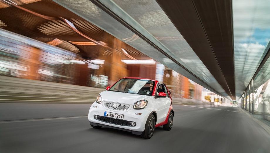 Smart Fortwo Cabrio. Выпускается с 2016 года. Шесть базовых комплектаций. Цены от 1 100 000 до 1 726 967 руб.Двигатель 0.9, бензиновый. Привод задний. КПП: роботизированная.