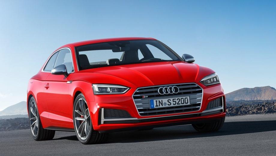 Audi S5. Выпускается с 2016 года. Одна базовая комплектация. Цена 4 550 000 руб.Двигатель 3.0, бензиновый. Привод полный. КПП: автоматическая.