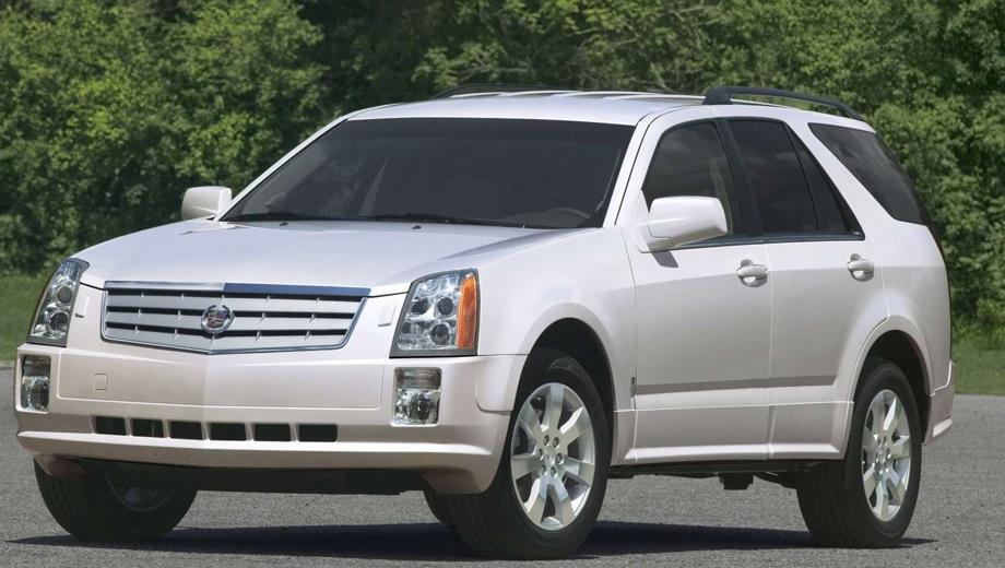 Cadillac SRX (2003). Выпускается с 2003 года. Четыре базовые комплектации. Цены от 1 500 000 до 1 860 000 руб.Двигатель от 3.6 до 4.6, бензиновый. Привод полный. КПП: автоматическая.