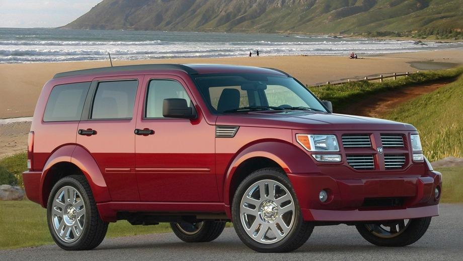 Dodge Nitro. Выпускается с 2007 года. Три базовые комплектации. Марка официально не представлена на российском рынке.Двигатель от 2.8 до 4.0, бензиновый и дизельный. Привод полный. КПП: автоматическая.