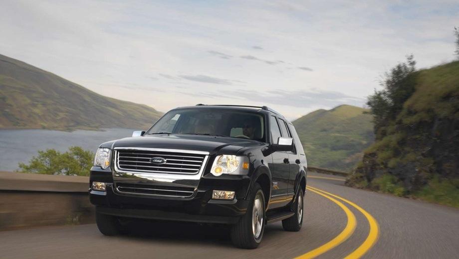 Ford Explorer (2006). Выпускается с 2006 года. Четыре базовые комплектации. Цены от 1 631 000 до 1 916 500 руб.Двигатель от 4.0 до 4.6, бензиновый. Привод полный. КПП: автоматическая.