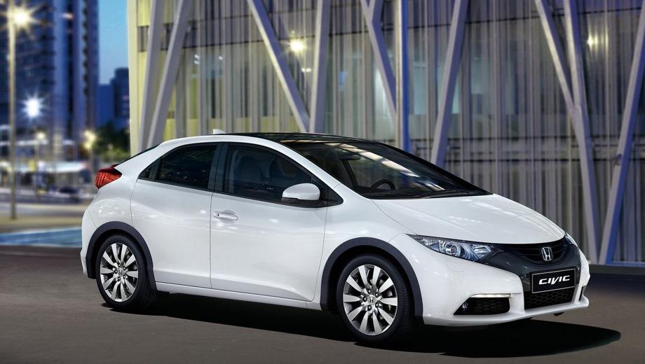 Honda Civic 5D. Выпускается с 2012 года. Три базовые комплектации. Цены от 929 000 до 1 129 000 руб.Двигатель 1.8, бензиновый. Привод передний. КПП: автоматическая.