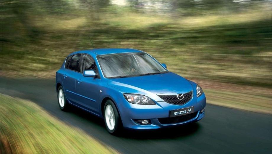 Mazda 3 Hatchback (2003). Выпускается с 2003 года. Семь базовых комплектаций. Цены от 568 000 до 800 000 руб.Двигатель от 1.6 до 2.0, бензиновый. Привод передний. КПП: механическая и автоматическая.