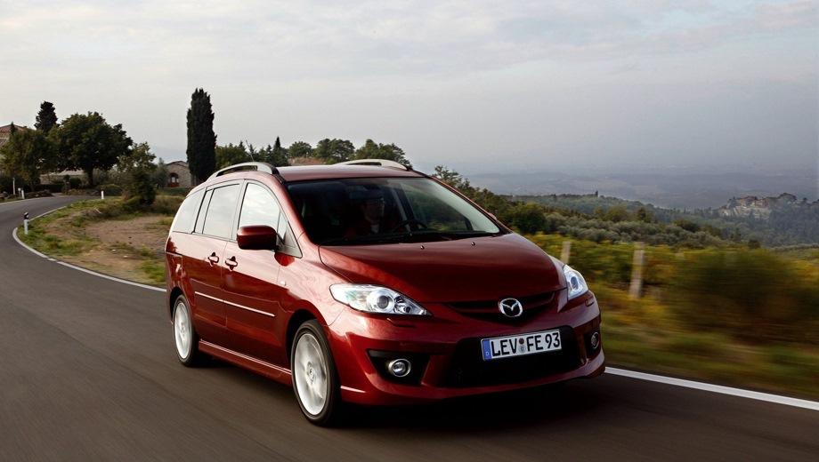 Mazda 5 (2005). Выпускается с 2005 года. Шесть базовых комплектаций. Цены от 750 870 до 1 049 600 руб.Двигатель от 1.8 до 2.0, бензиновый. Привод передний. КПП: механическая и автоматическая.