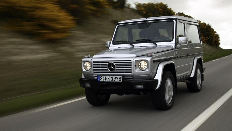 Mercedes-Benz G 3D. Выпускается с 1990 года. Две базовые комплектации. Цены от 3 750 000 до 4 850 000 руб.Двигатель от 3.0 до 5.5, дизельный и бензиновый. Привод полный. КПП: автоматическая.