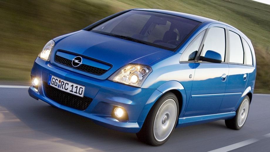 Opel Meriva OPC. Выпускается с 2002 года. Одна базовая комплектация. Марка официально не представлена на российском рынке.Двигатель 1.6, бензиновый. Привод передний. КПП: механическая.
