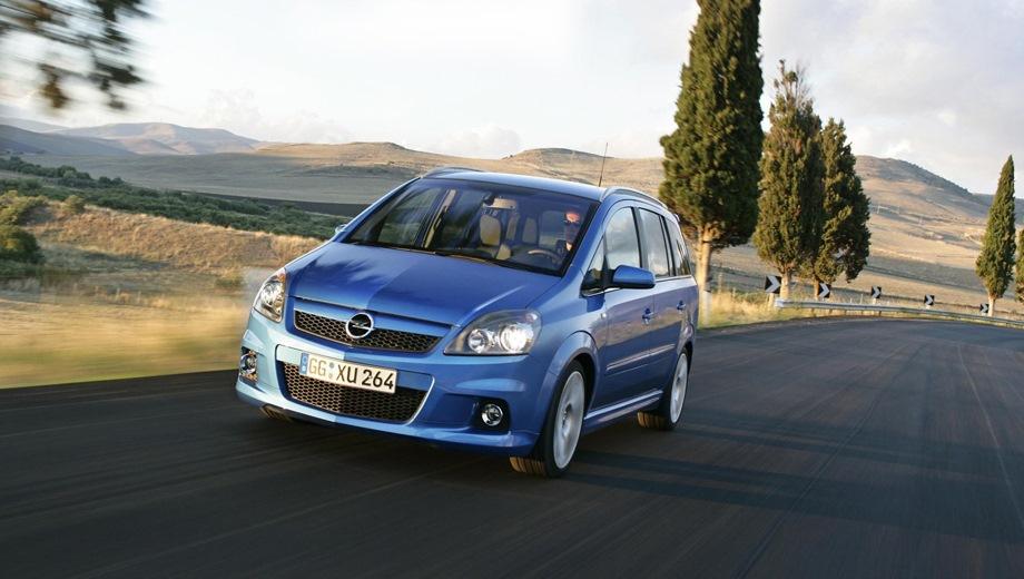 Opel Zafira OPC. Выпускается с 2005 года. Одна базовая комплектация. Цена 1 113 400 руб.Двигатель 2.0, бензиновый. Привод передний. КПП: механическая.